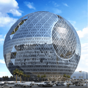 """Technosphere"", Dubai – Designed to mimic natural ecosystems, and operate sustainably. Source: James Law Cybertecture International Holdings Ltd. 2011 www.jameslawcybertecture.com)"