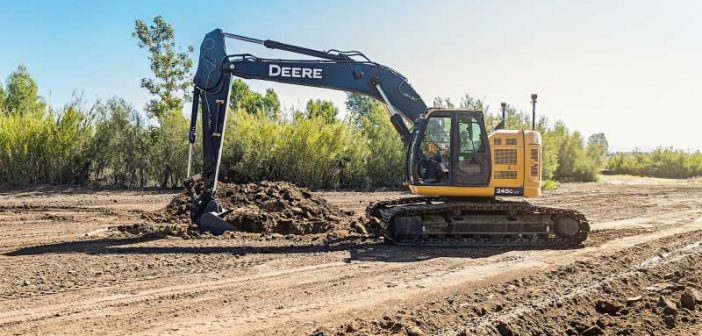 New Topcon automatic excavator system featuring fingertip control